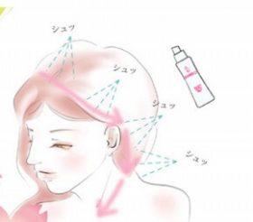 頭皮にスプレーして軽くさするだけで小顔!のミスト化粧水とは?